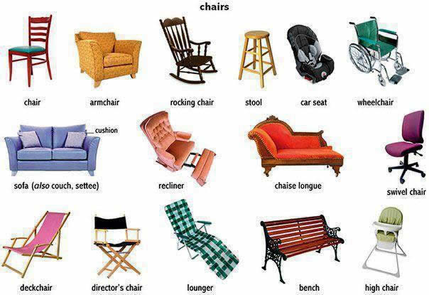 Learning about different chairs