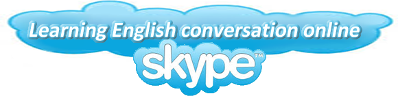 Learning English conversation online using Skype