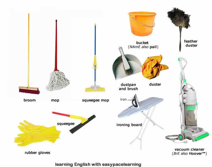 Cleaning Equipment. Cleaning equipment learning the vocabulary