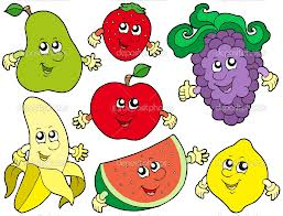 A list of English lessons about fruit and vegetables