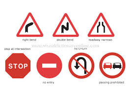 All lessons about road signs and health and safety lessons