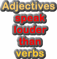 verbs and adjectives English grammar exercise