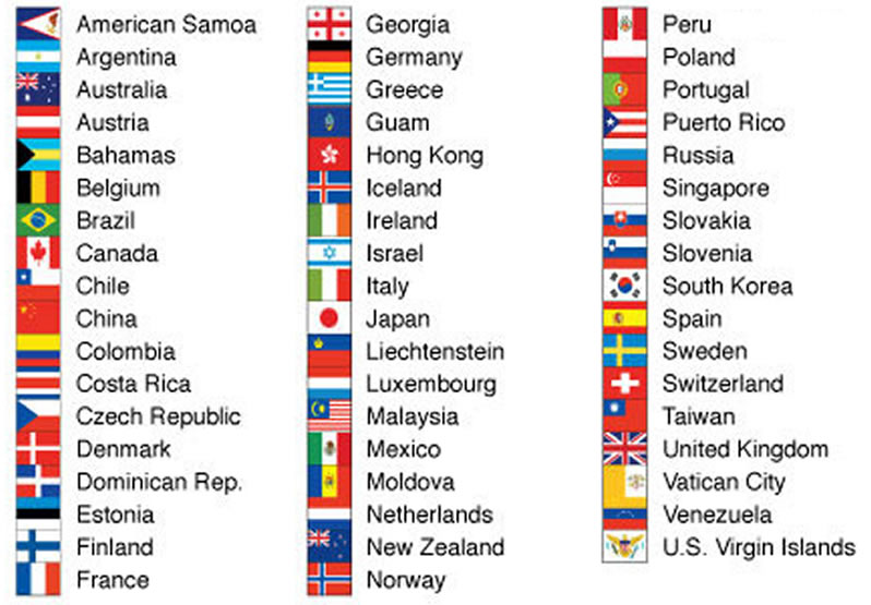 Flags Of The World In PDF To Download For Free - List of world countries and capitals