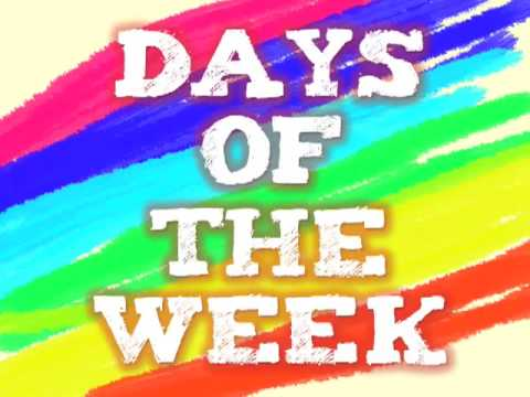 days of the week exercise