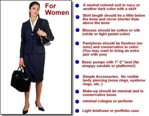 how women dress for a job interview