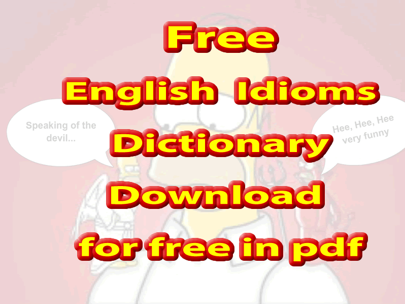 English Idioms dictionary PDF free