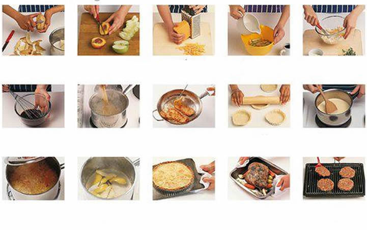 Food preparation and cooking exercise