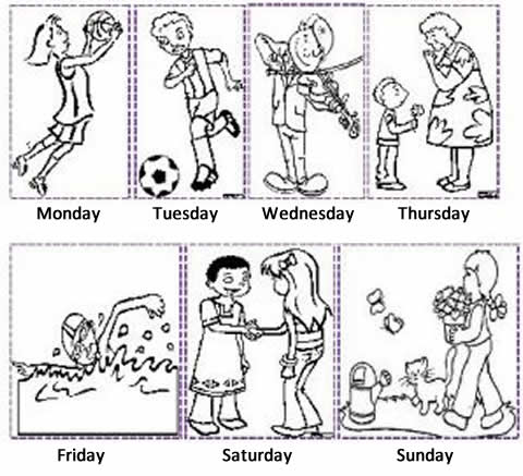 exercise on days of the week