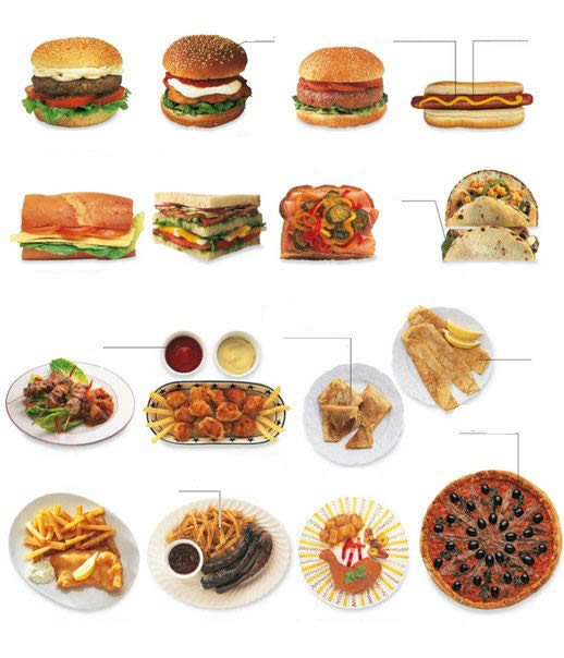 Learning about fast food vocabulary