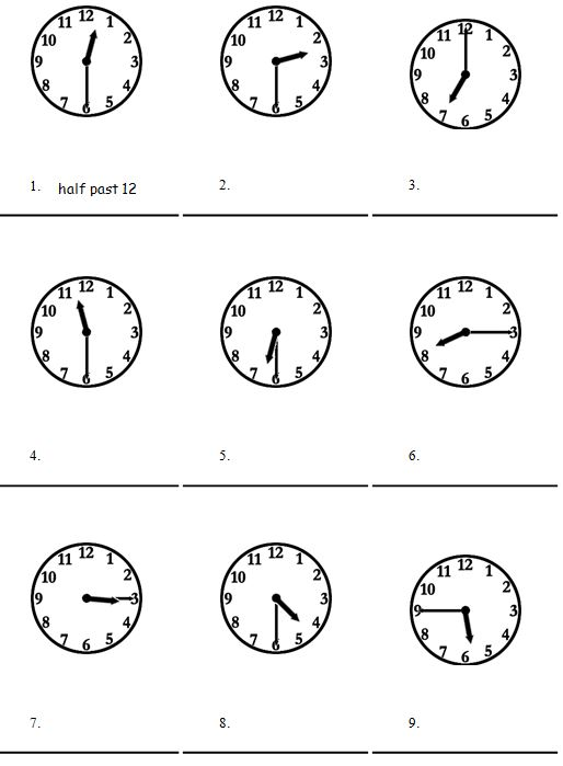 telling the time in english exercise basic english. Black Bedroom Furniture Sets. Home Design Ideas
