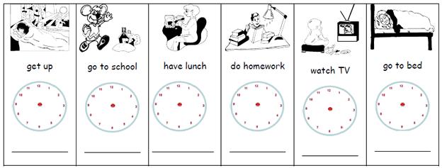 What time do you exercise English basics