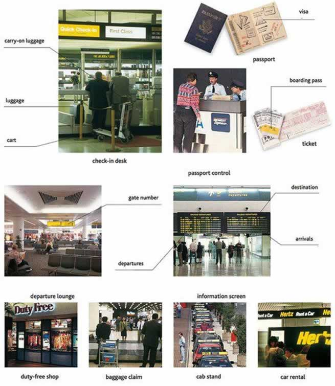 English conversation practice for tourists | AT THE AIRPORT 1