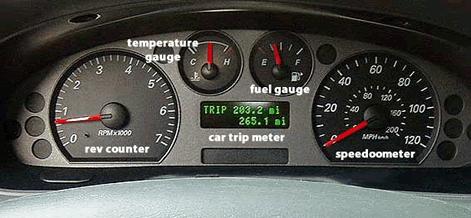 Speedometerfueltemptrip