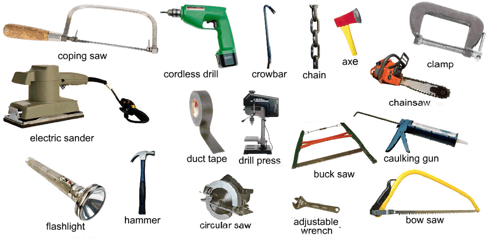 hand tool names. picture 2 of tools you would find in a workshop hand tool names
