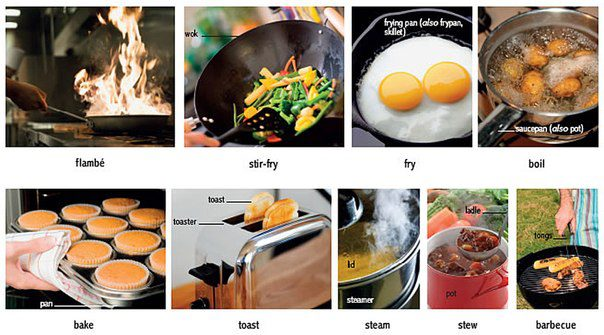 different ways to cook food