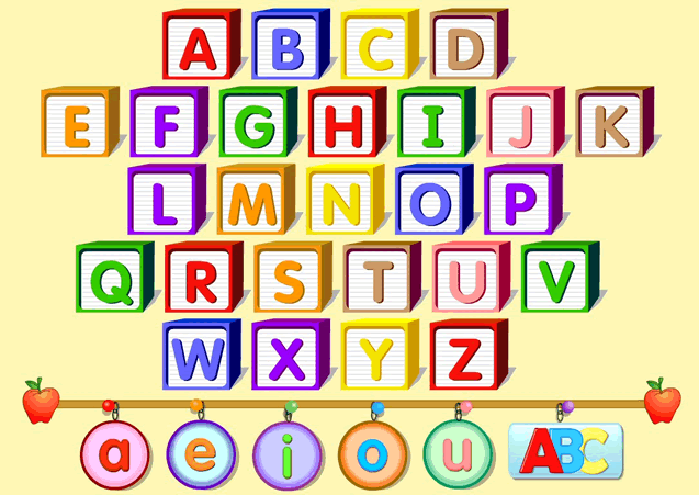 Learning the alphabet using images and pictures