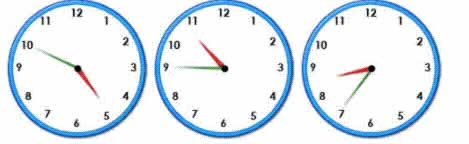 random clocks for  practise for telling the time