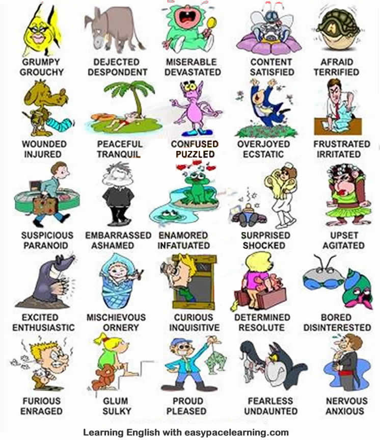 Feelings and emotions English lesson learning emotions ...