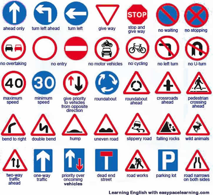 Pics For Gt English Traffic Signs And Meanings